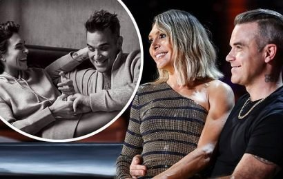 Robbie Williams and wife Ayda Field QUIT The X Factor