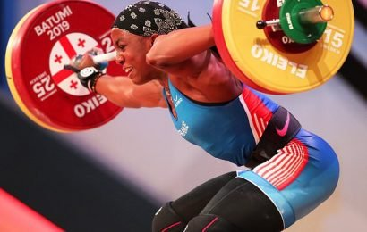 Female weightlifter's arm SNAPS in two places as she attempts a lift