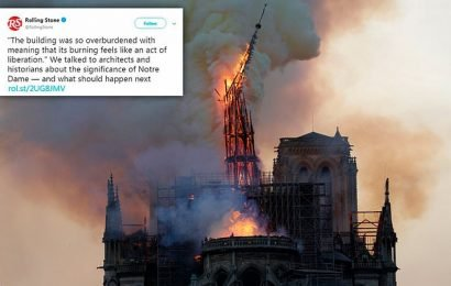 Rolling Stone faces backlash for 'disrespectful' quote on Notre Dame