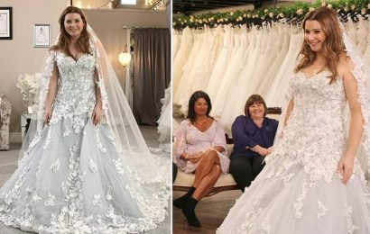 Mum makes bride's mind up for her after trying on BLUE wedding dress