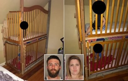 Parents arrested for locking two boys in cages bolted to bedroom wall