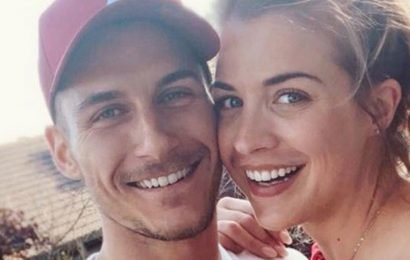Gorka Marquez kisses Gemma Atkinson's pregnant bump as they gear up for birth