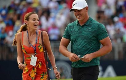 Brooks Koepka gets over Masters loss with topless Jena Sims