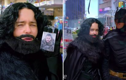 Emilia Clarke Pranked New Yorkers While Dressed as Jon Snow, and They Knew NOTHING