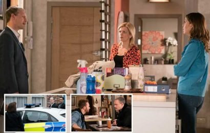 Coronation Street spoilers: Nick Tilsley accused of planning the roof collapse as Toyah Battersby discovers the stolen HS report in his bed
