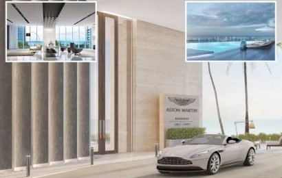 Live like James Bond in this stunning £38million penthouse that comes with a limited edition Aston Martin