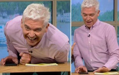 Phillip Schofield caught using his phone in on air blunder after Alison Hammond gets cut off