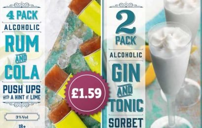 B&M is selling gin and tonic sorbet and rum and cola ice lollies – and you need ID to buy them