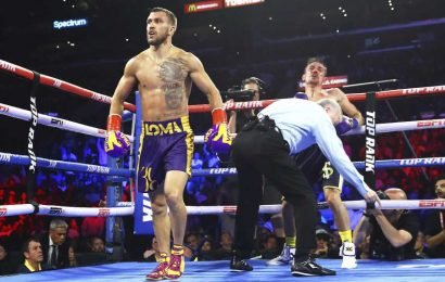 Boxing fans slam referee for not stopping Vasyl Lomachenko's savage beating against Anthony Crolla a round earlier