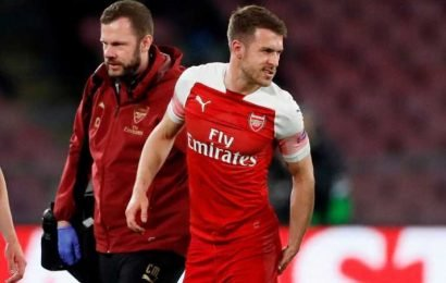 Aaron Ramsey suffers hamstring injury at Napoli that may have ended his Arsenal career