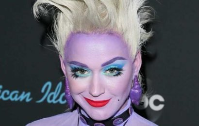 Katy Perry dresses as Ursula from Disney's The Little Mermaid for American Idol