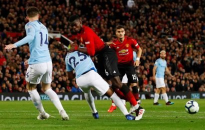Fernandinho hands Man City injury blow after limping off with knee injury during Manchester derby at Old Trafford