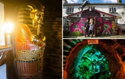 Inside Britain's 'most unusual pub' that boasts a six-foot Minotaur and a giant horse and carriage entrance
