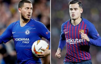 Chelsea 'want Coutinho to replace Real Madrid-bound Hazard' if transfer ban is delayed this summer
