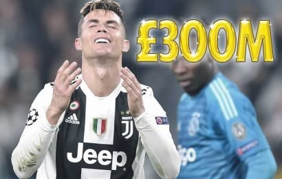 Juventus' £300m Cristiano Ronaldo gamble backfired after Champions League humbling by Ajax… and even their shares have taken huge hit
