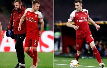 Ramsey WILL play for Arsenal again after claiming he can return in three weeks – and even face Valencia