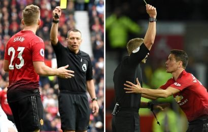Four Man Utd hotheads are in danger of missing Barcelona second leg if they get booked at Old Trafford