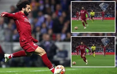 Virgil van Dijk celebrated Mo Salah's goal BEFORE the Liverpool forward shot during Champions League demolition of Porto