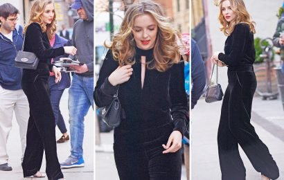 Killing Eve's Jodie Comer wears a fetching black jumpsuit in New York City