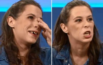 Jeremy Kyle Show viewers horrified by guest's 'chip fork teeth' as mum claims she's more interested in smoking cannabis than seeing her daughter