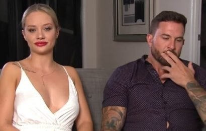 MAFS' most controversial couple in awkward spat on live TV