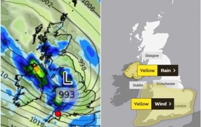 UK weather forecast – Met office warning as Storm Hannah ground flights and cause monster waves