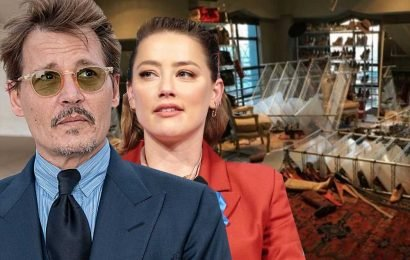 Photos show Johnny Depp's alleged destruction of Amber Heard's closet