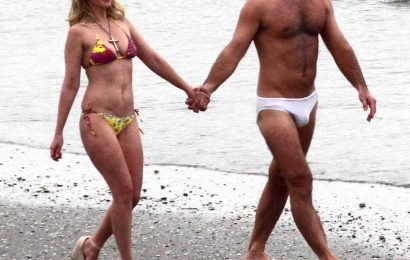 Holy Moly: Jude Law Hits the Beach in Just a Tiny White Speedo While Filming The New Pope