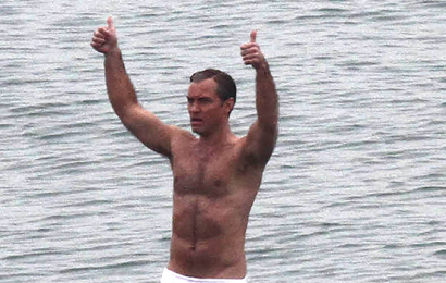 Jude Law, 46,  Wears Tiny, White Speedo While Filming 'The New Pope' — See Pics