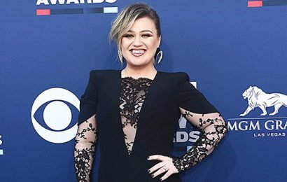 Kelly Clarkson Lights Up The ACMs Red Carpet With Sexy Black Lace Outfit