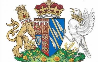 What is Meghan Markle's coat of arms and why's the songbird's crown around its neck?