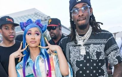 Cardi B Packs on the PDA With Offset During Surprise Performance
