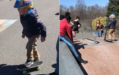 Teens Teach 5-Year-Old Boy With Autism How to Skateboard on His Birthday in Sweet Video