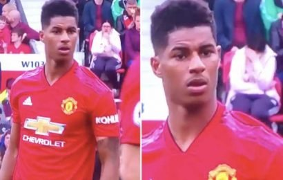 Man Utd fan sees Rashford step up to take free-kick and hilariously bury her head in her hands