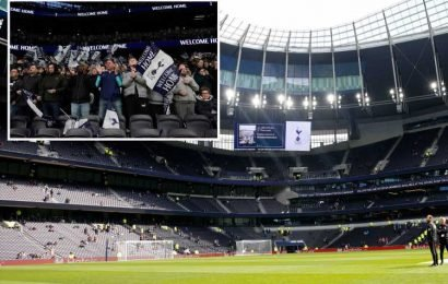Spurs fans banned for 'persistently standing' at new stadium as club clamps down