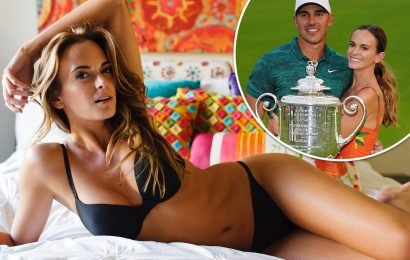 Wag Jena Sims proves she really is a good luck charm for boyfriend golfer Brooks Koepka ahead of the Masters 2019