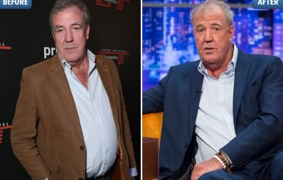 Jeremy Clarkson shows off two-stone weight loss after he quits smoking and takes up cycling