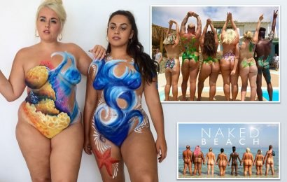 Plus-size models who host C4's Naked Beach claim 'getting your bits out' boosts body image