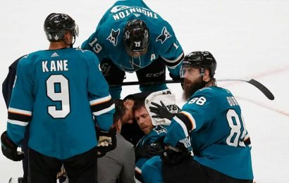 Golden Knights' Cody Eakin gets major penalty; Sharks stage furious rally for Game 7 win