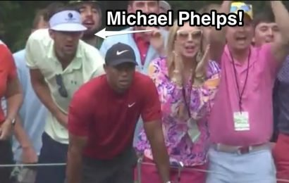 Michael Phelps explains how the viral video of him cheering on Tiger Woods at the Masters came together