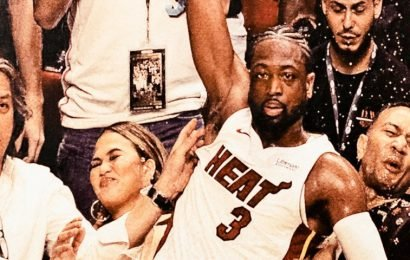 Chrissy Teigen was gifted a huge 'Renaissance painting' of the viral photo showing Dwyane Wade crashing into her and John Legend