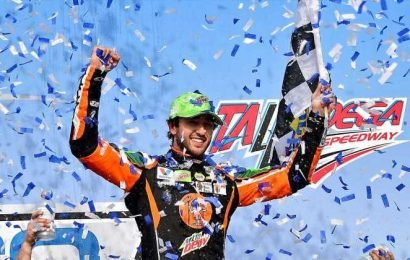 Chase Elliott wins Cup race at Talladega as chaos erupts on final lap