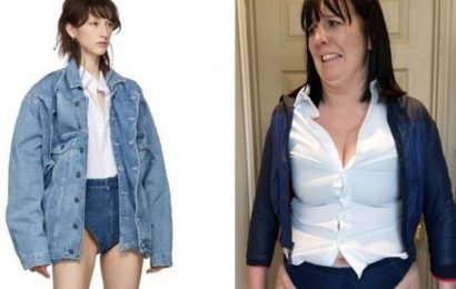 Mum tries crotch-flashing shorts trend with hilarious results