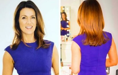 GMB's Susanna Reid shows off booty in skintight dress: 'Complete goddess'