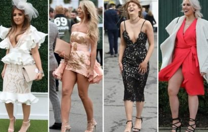 Grand National 2019: Guests stun in knicker-flashing frocks and plunging dresses