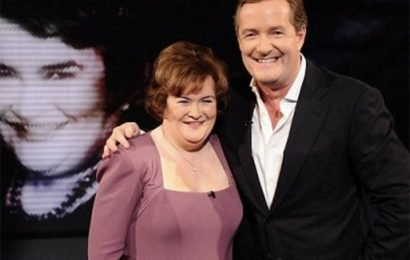 Susan Boyle reveals Piers Morgan crush drove her to audition for BGT