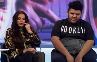 Katie Price posts vid pushing son Harvey over prompting fan fury: 'Bully'