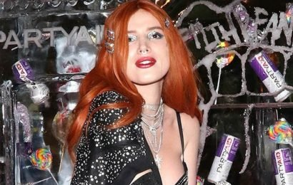 Bella Thorne ramps up the sex appeal in diamond-encrusted bra at Coachella