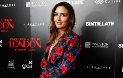 Nadia Forde hits the red carpet with fiancé Dominic Day in London for movie debut