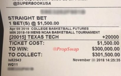Inside the story of the $300,000 Texas Tech futures bet